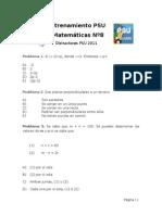 Distractores PSU Matem Ticas FMAT 2011 N 8