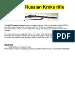 The M1867 Russian Krnka Rifle