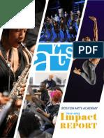 Boston Arts Academy 2012-13 Impact Report