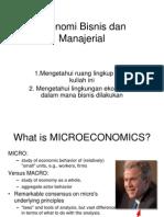 Ekonomi Bisnis Dan Manajerial