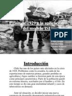 Crisis Del 29 y Aplicacion Del Modelo Isi