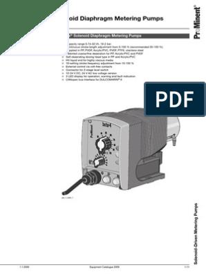 ProMinent Beta Solenoid Diaphragm Metering Pumps | Valve | Pump