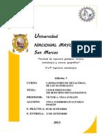 INFORME I - El Microscopio Metalográfico