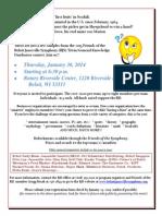Beloit/Janesville Symphony Trivia Contest - 2013