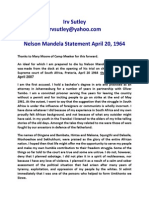 Nelson Mandela Statement April 20 1964