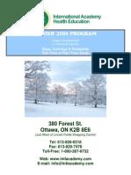 IAHE Winter 2014 Courses