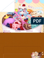 Ice cream presentation layout