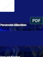 Possesive Adjectives