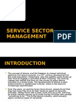 Service Sector Management in Leisure industry