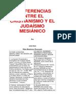 35 DIFERENCIAS ENTRE EL CRISTIANISMO Y EL JUDAÍSMO MESIÁNICO