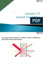 Lec 13 Sound Insulation