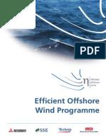 Efficient Offshore Wind Programme (EOWP) 2012-07