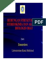 Stereokimia. kimia medisinal