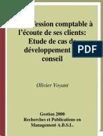 La Profession Comptable à l'Ecoute de ses Clients - Etude de Cas de Développement du Conseil.pdf