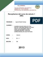 Recopilacion Del Curso Calc 1 Ma