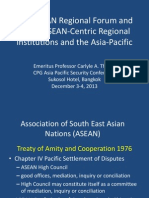 Thayer The ASEAN Regional Forum and Other ASEAN-Centric Regional Institutions and the Asia-Pacific