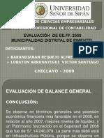 EVALUACIÓN DE ESTADOS FINANCIEROS-PIMENTEL 2008