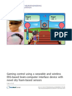 Gaming Control Using a Wearable and Wireless EEG-Based Brain-computer Interface Device With Novel Dry Foam-based Sensors