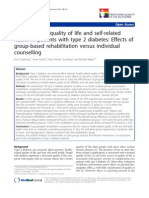 Health-Related Quality of Life and Self-related Health in Patients With Type 2 Diabetes Effects of Group-based Rehabilitation Versus Individual Counselling.