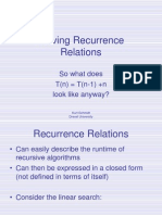 RecurrenceRelations Substitution