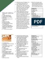 recipe card exaple for portofolio