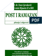 Post i ramazan (pitanja i odgovori) - prof. dr. Enes Ljevaković