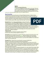 Main Point vs Purpose Com Studies