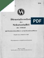 Reichsführer SS - Dienstaltersliste der Schutzstaffel der NSDAP 1942 (SS-Obersturmbannführer und SS-Sturmbannführer)