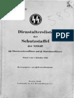 Reichsführer SS - Dienstaltersliste der Schutzstaffel der NSDAP 1943 (SS-Obersturmbannführer und SS-Sturmbannführer)
