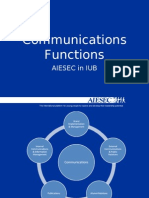 AIESEC IUB Communications Functions