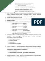REQUISITOS PARA INSCRIPCIÓN DE INTERNADO