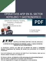 Operativos AFIP - Sector Hotelero y gastronómico - Dic/2013