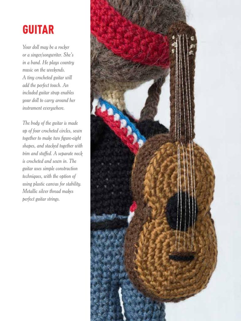 Guitar Amigurume Crochet Embroidery