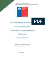Evaluación Ex Post Consultorio Cerros de Talcahuano