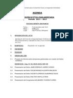 AGENDA 3° ORDINARIA  9-12-13