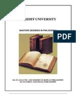MA Philosophy Module 2013 14