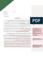 interpretive essay comments mr  padget