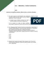 2ª Lista de Exercícios de Matemática