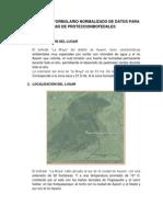 Formulario Normalizado de Datos Para Zonas de Proteccion Moya