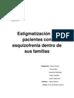 estigmatización de pacientes con esquizofrenia