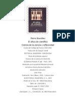 Bourdieu, Pierre - El Oficio de Cientifico (Ciencia de La Ciencia y Reflexividad)