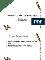 Memori Pada Sistem Linux