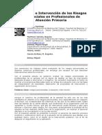 Evaluación e Intervención de los Riesgos Psicosociales en Profesionales de Atención Primaria