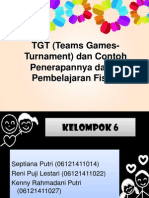 TGT (Teams Games-Turnament) Dan Contoh Penerapannya Dalam Fisika