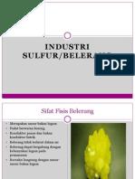 P 4 Industri Sulfur