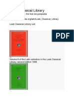 Loeb Classical Library Checklist