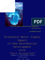 Eliminate Water Supply Impact of New Residential Development with Zero Footprint Design