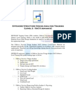SACS Advanced Offshore Structure Design Analysis