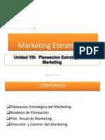 Unidad VIII. Planeacion y Direccion Estrategica Del Marketing PDF