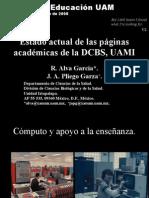 Estado de las páginas académicas de la DCBS, UAMI